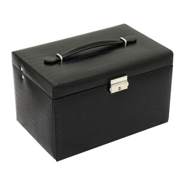 Šperkovnice Classico Black, 24x15x16 cm