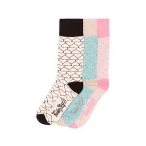Sada 3 párů barevných ponožek Funky Steps Geometric, vel. 35-39