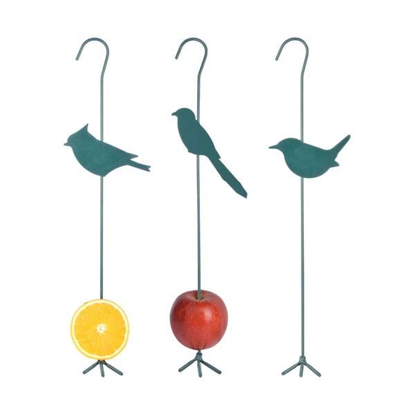 Zestaw 3 kolorowych haków na pokarm dla ptaków Esschert Design
