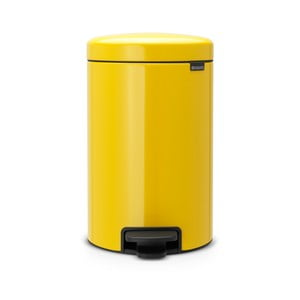 Žlutý pedálový odpadkový koš Brabantia Newicon, 12l