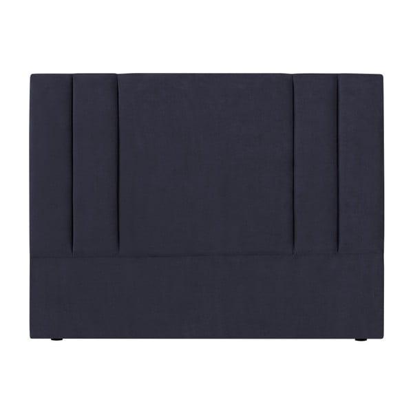 Tmavě modré čelo postele Kooko Home Kasso, 120 x 140 cm