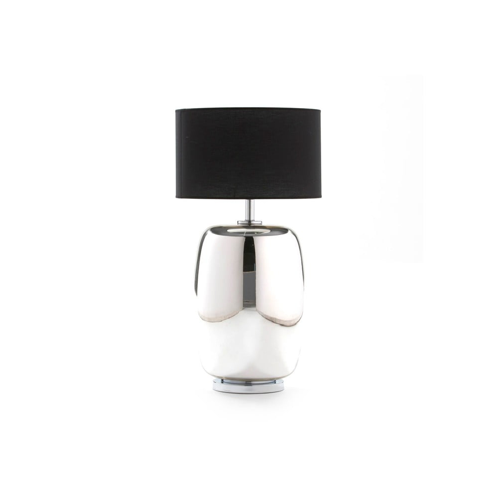 Skleněná stolní lampa ve stříbrné barvě bez stínidla Thai Natura Sophi