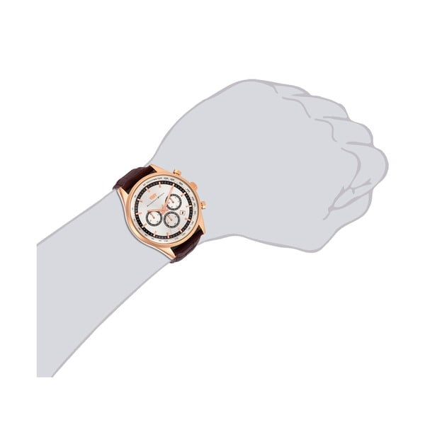Pánské hodinky Rhodenwald&Söhne Eastwood Brown/Rosegold