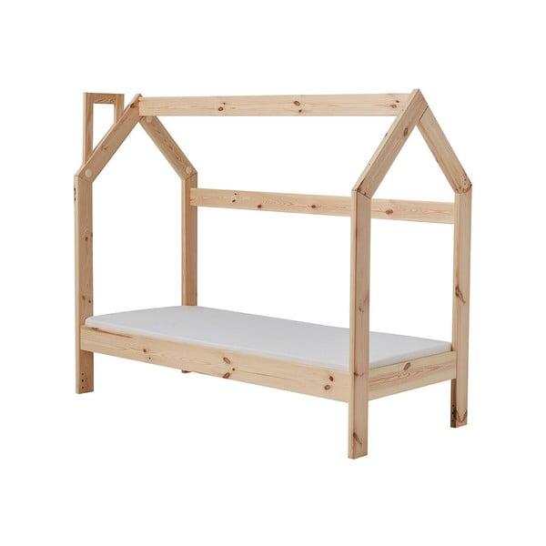 Dětská dřevěná postel ve tvaru domečku Pinio House, 166 x 141 cm