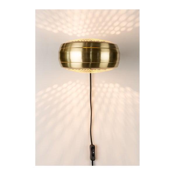 Nástěnná lampa v mosazné barvě Zuiver Gringo Flat