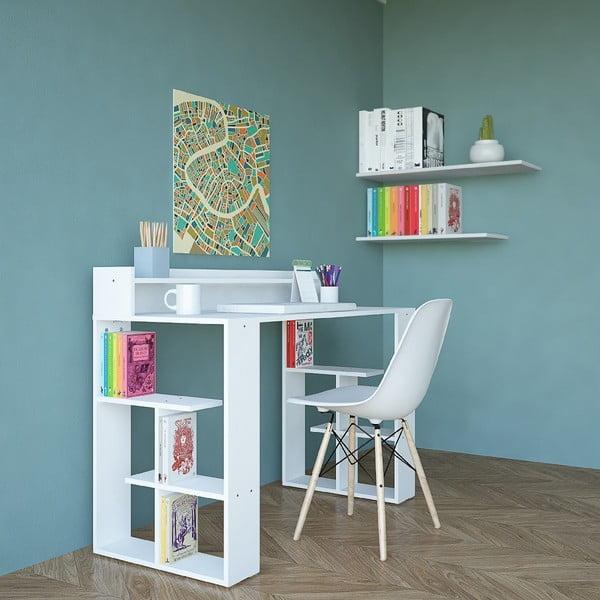 Białe biurko Requel, szer. 120 cm