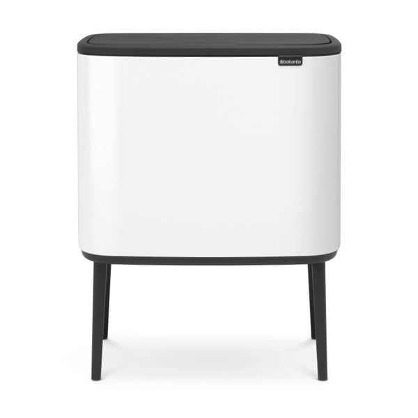Biely odpadkový kôš Brabantia Touch, 36 l
