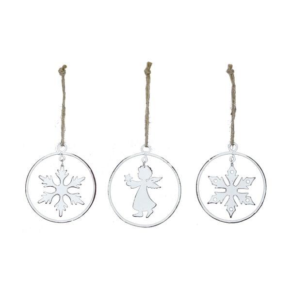 Sada 3 závěsných vánočních dekorací ve tvaru Ego dekor Kroužek