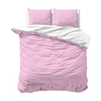 Lenjerie de pat dublu, din micropercal Zensation Twin Face, 200 x 220 cm, roz de la Zensation