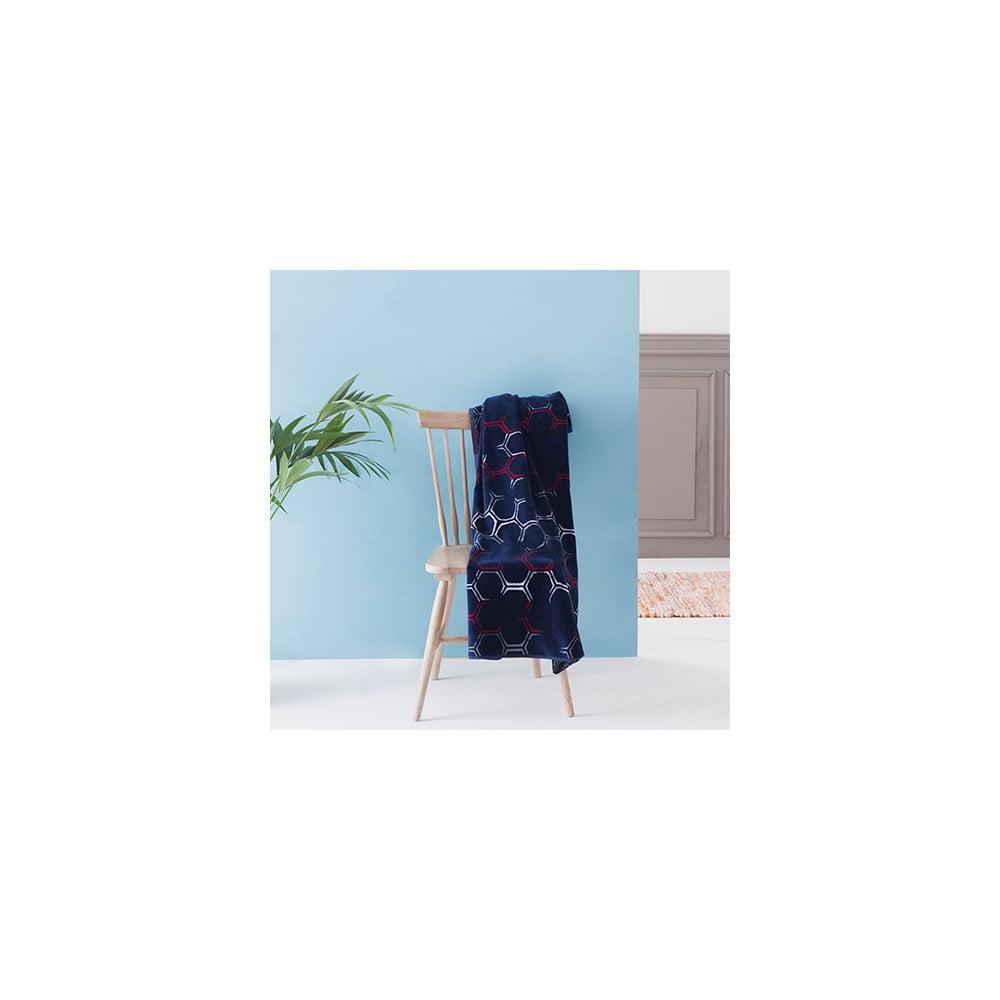 tmav modr bavln n osu ka casa di bassi hexa 100x180 cm bonami. Black Bedroom Furniture Sets. Home Design Ideas