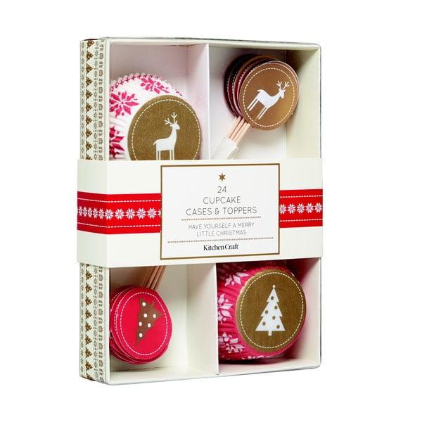 Sada na cupcaky Merry Little Christmas