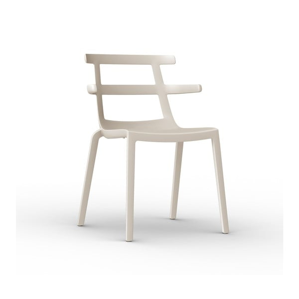 Sada 2 krémových zahradních židlí Resol Tokyo
