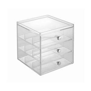Transparentní organizér se 3 zásuvkami na brýle InterDesigny