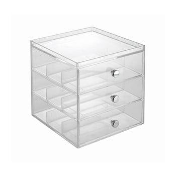 Organizator transparent pentru ochelari cu 3 sertare, iDesign imagine