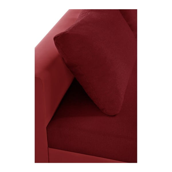 Červená rohová pohovka s lůžkem na levé straně INTERIEUR DE FAMILLE PARIS Aventure