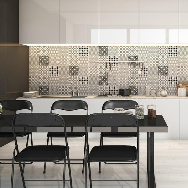 Set 9 autocolante de perete Ambiance Cement Scandinavian Tiles Finland, 15 x 15 cm