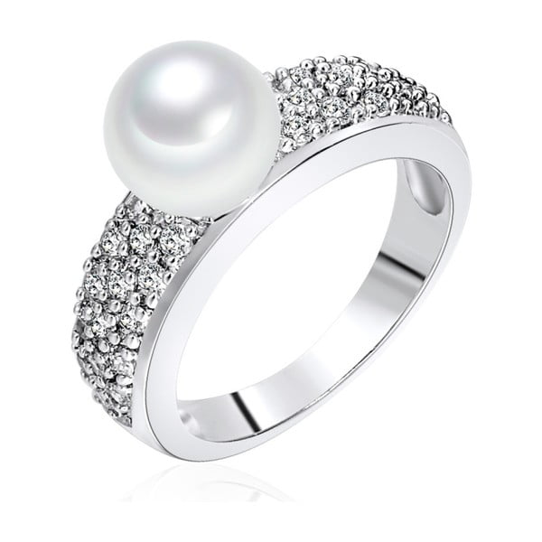Prsten s perlou Nova Pearls Copenhagen Elisabeth, vel. 56