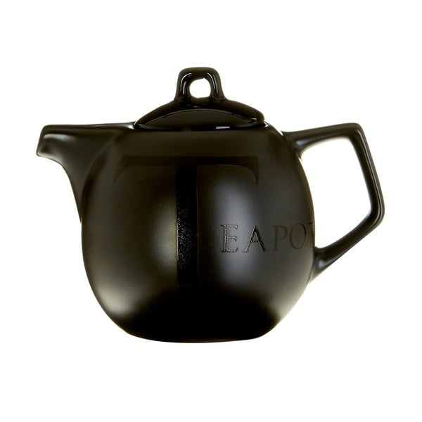 Ceainic Premier Housewares, 500 ml, ceramică, negru