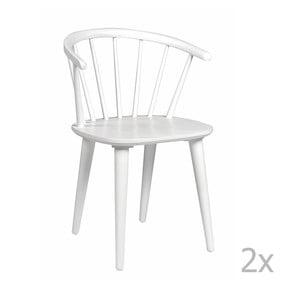 Sada 2 bílých židlí Folke Carmen