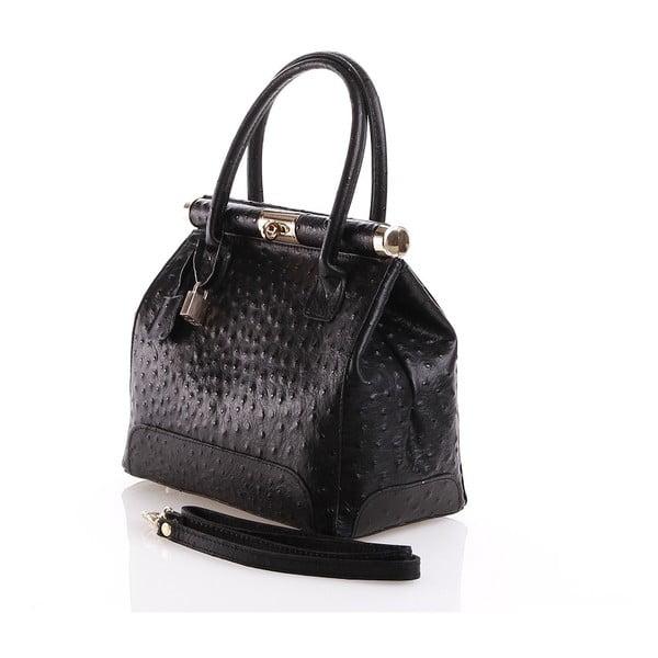 Kožená kabelka Rosalind, černá