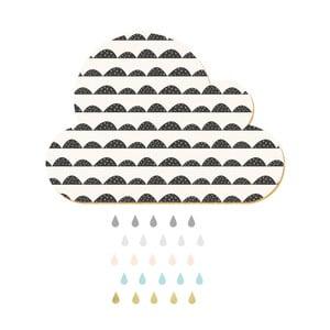 Dekorativní samolepící nástěnka Dekornik White Cloud With Pastel Drops