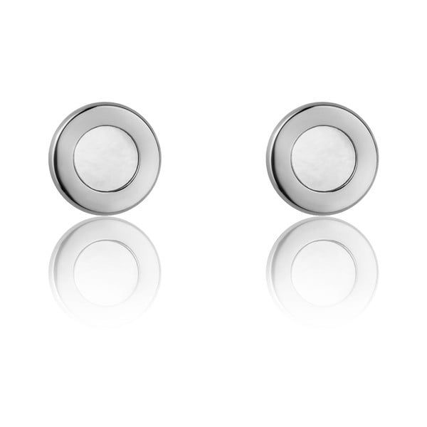 Cassia ezüstszínű rozsdamentes acél fülbevaló - Emily Westwood