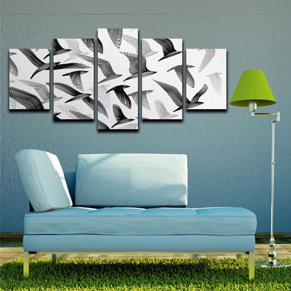 Vícedílný obraz Black&White Birds