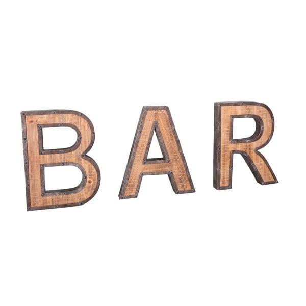 Nápis z železa a kovu Antic Line Bar