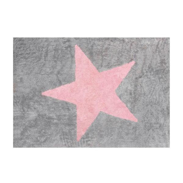 Koberec Estela 160x120 cm, šedo-růžový