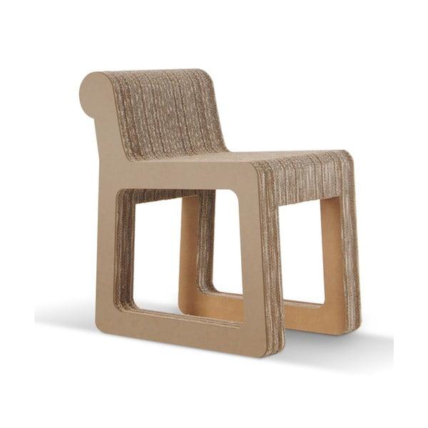 Kartonová židle Knob Natural