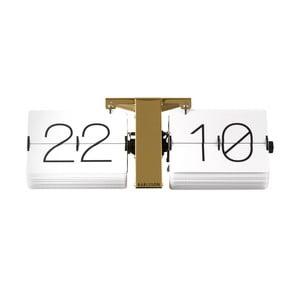 Ceas de birou și masă Present Time No Case, alb