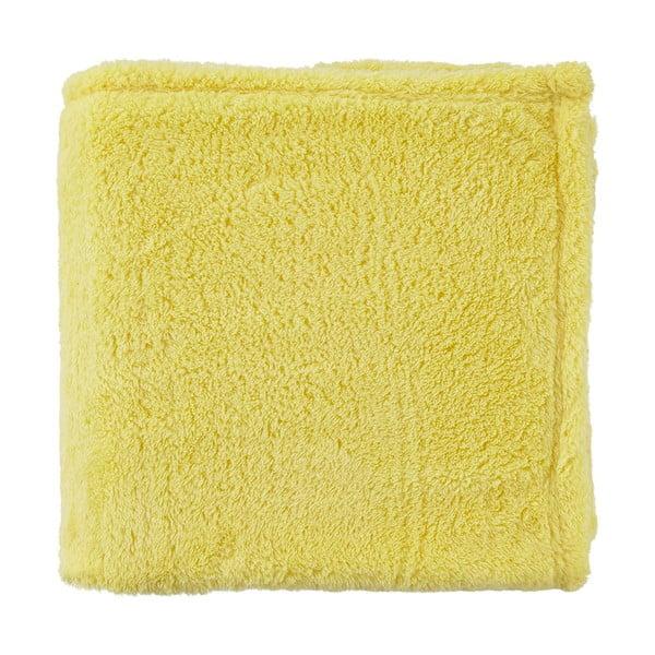 Fleecový pléd Moss 130x180 cm, žlutý