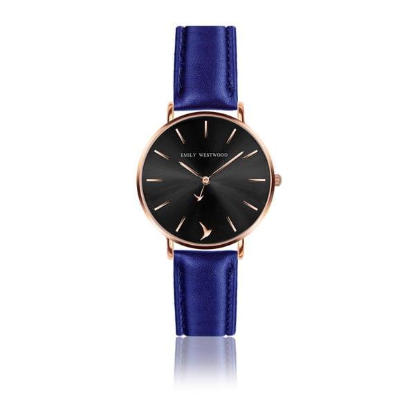 Zegarek damski z ciemnoniebieskim paskiem ze skóry naturalnej Emily Westwood Callisto