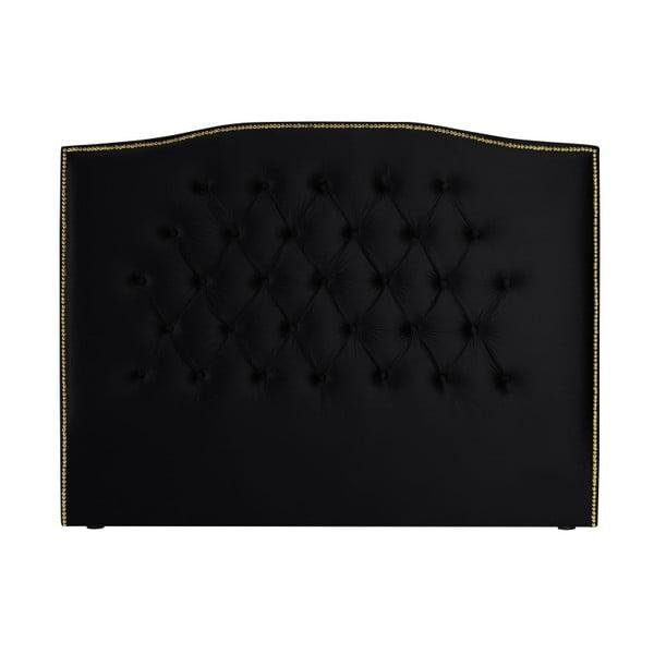 Černé čelo postele Mazzini Sofas Anette, 180 x 120 cm