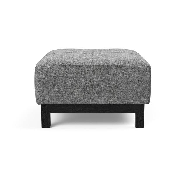 Šedý puf Innovation Bifrost Twist Charcoal, 65x64cm