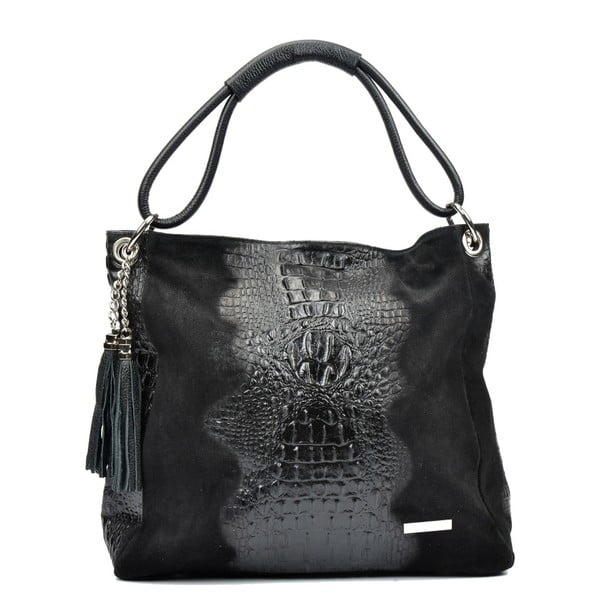 Čierna kožená kabelka Luisa Vannini Marita