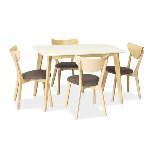 Jídelní stůl s bílou deskou Signal Combo, délka120cm