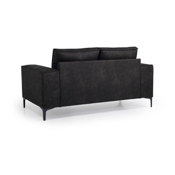 Canapea cu 2 locuri Softnord Copenhagen, gri antracit