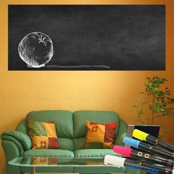 Set autocolant tip tăbliță de scris și 4 markere Ambiance Giant Chalkboard, 60 x 200 cm de la Ambiance