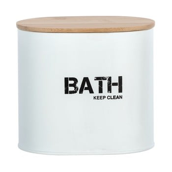 Cutie pentru baie cu capac Wenko Gara, alb de la Wenko