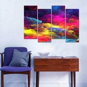 Tablou din 4 piese Evenning Sky, 20 x 50 cm