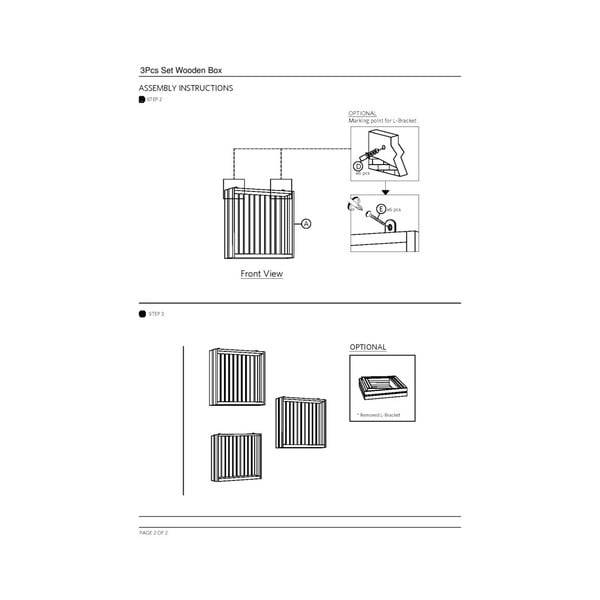 Set 3 rafturi de perete din lemn masiv de cauciuc Furniteam Design