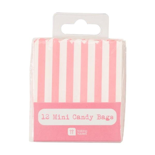 Sada 12 papírových sáčků Mini Candy