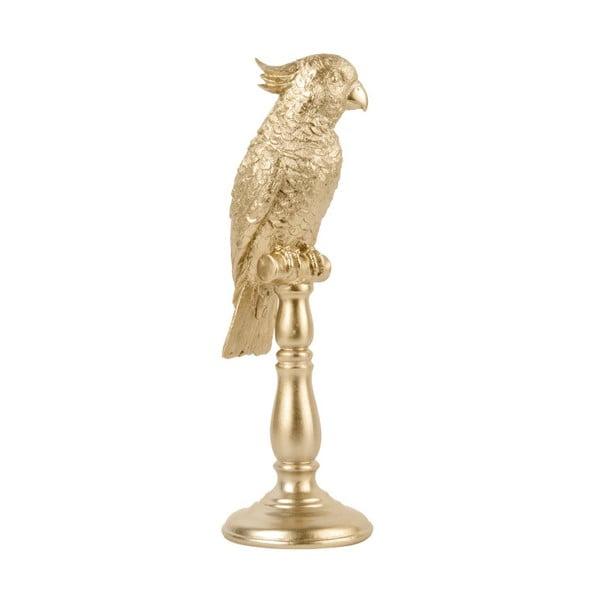 Soška ve zlaté barvě PT LIVING Cockatoo, výška 32cm