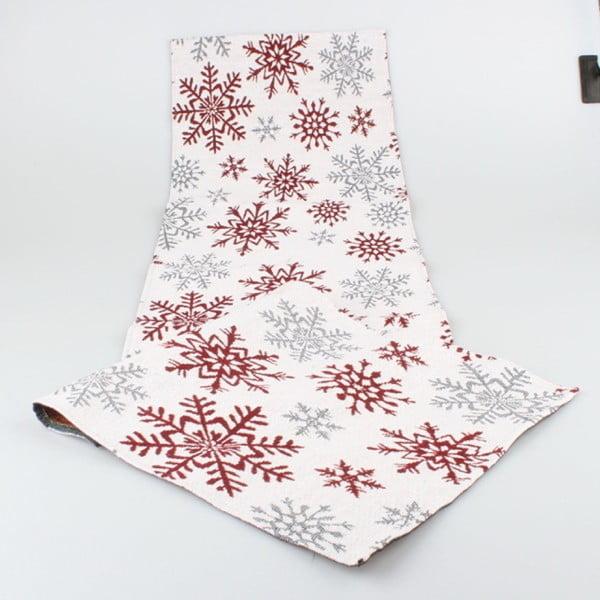 Szaro-czerwony bieżnik Dakls Winter, 33x140 cm