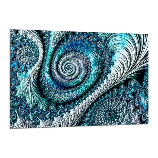 Tablou Styler Glasspik Fractal Blue, 80 x 120 cm