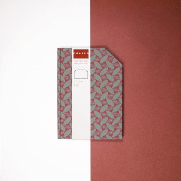 Ručně šitý zápisník bez linek Calico Tea