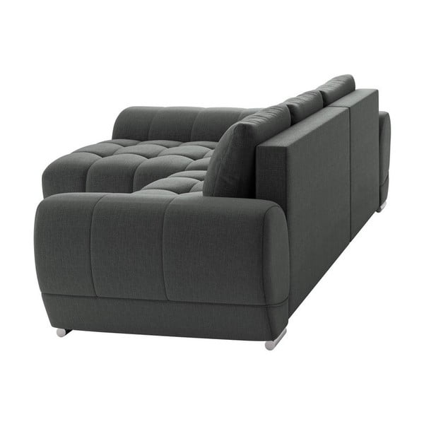 Canapea extensibilă de colț Windsor & Co Sofas Cloudlet, pe partea stângă, gri închis