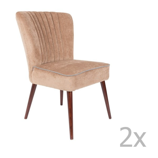 Pinzon 2 részes bézs szék szett - Dutchbone