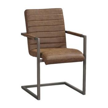 Scaun cu baza metalică, neagră Rowico Clive, maro de la Rowico